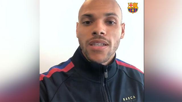 Las primeras palabras de Braithwaite como jugador del Barça