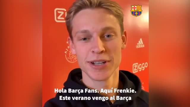 Las primeras palabras de De Jong como jugador del Barça