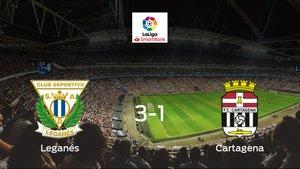 El Leganés consigue los tres puntos frente al Cartagena (3-1)