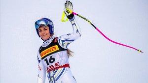 Lindsey Vonn despidió su carrera deportiva en Suecia