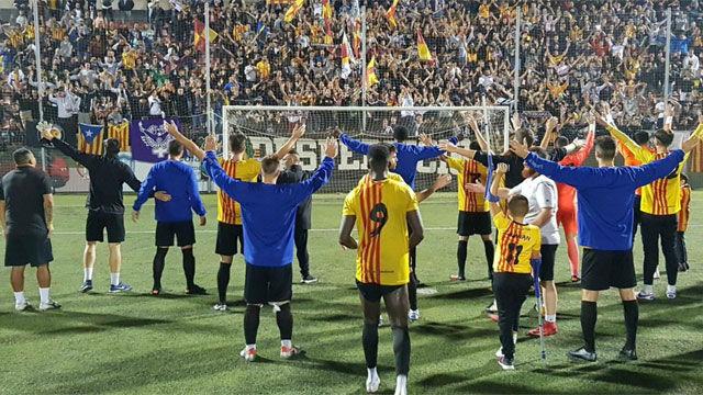 Locura en el Sant Andreu tras su clasificación para dieciseisavos de Copa del Rey