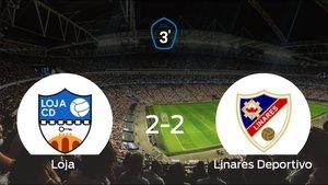 El Loja y el Linares Deportivo consiguen un punto tras empatar a 2 en su último partido