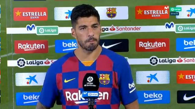 Luis Suárez: Es el primer año de Griezmann y es difícil, pero siempre va a tener el apoyo nuestro