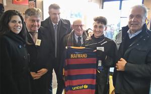 Maiwand ya tiene su camiseta del Barça