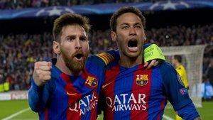 Messi y Neymar fueron clave en la remontada contra el PSG (6-1) para superar los octavos de final de la Champions de la temproada 2016-17