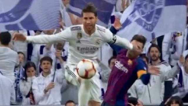 Otra agresión más en el curriculum de Ramos: así fue su codazo a Messi