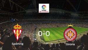 El Real Sportingy el Gironase reparten los puntos en El Molinón-Enrique Castro Quini (0-0)