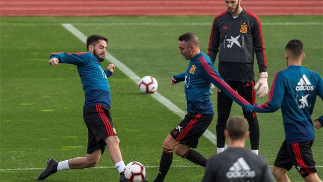 La selección se prepara antes de viajar a Croacia