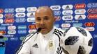 El seleccionador argentino, Jorge Sampaoli, durante la rueda de prensa de hoy