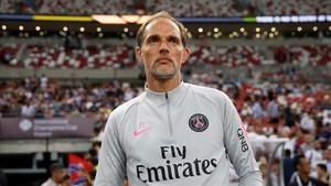 Thomas Tuchel, durante un partido de pretemporada con el PSG