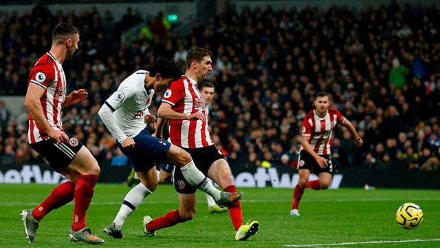 Tottenham y Sheffield empataron por la mínima