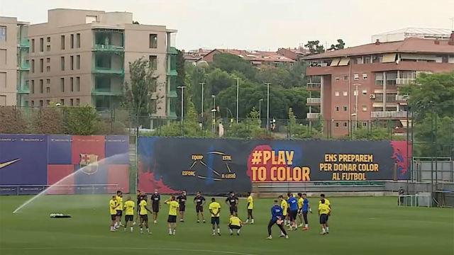 Última sesión del Barça antes del duelo ante el Valladolid