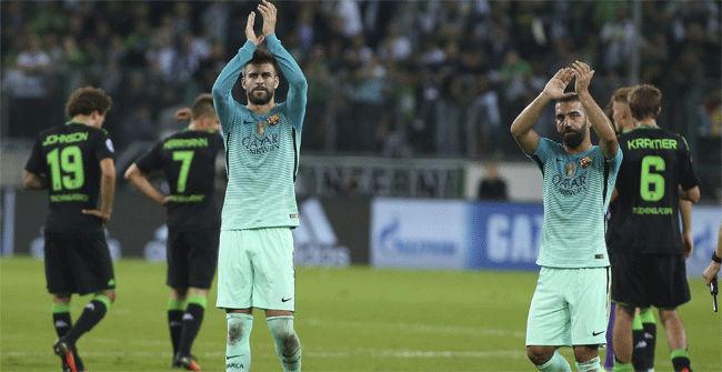 Vea las mejores imágenes del Borussia MGladbach - FC Barcelona
