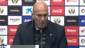 Zidane: Las cosas nos salen porque lo estamos haciendo bien