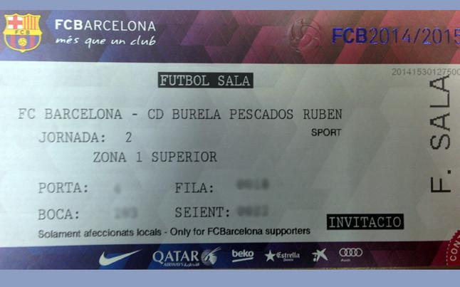 Consigue una entrada doble para el FC Barcelona-CD Burela  1afb6f1b31ea3