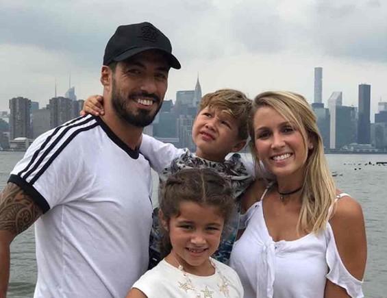 Suárez y su familia
