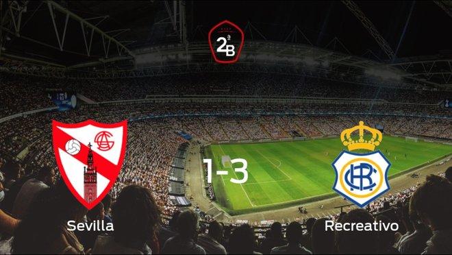 El Recreativo gana 1-3 al Sevilla At. y se lleva los tres puntos