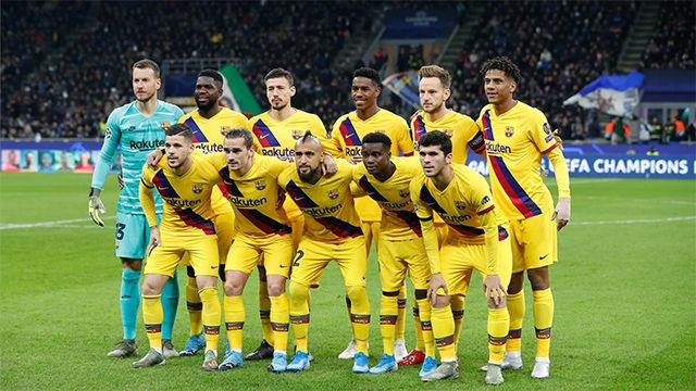 El 1x1 del Barça ante el Inter en el descanso