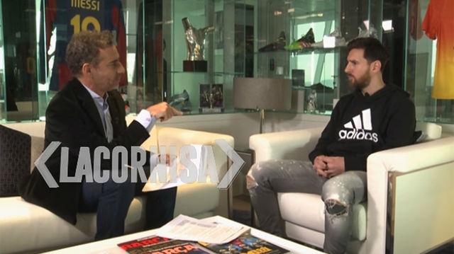 Adelanto de la entrevista de Leo Messi en el programa La Cornisa