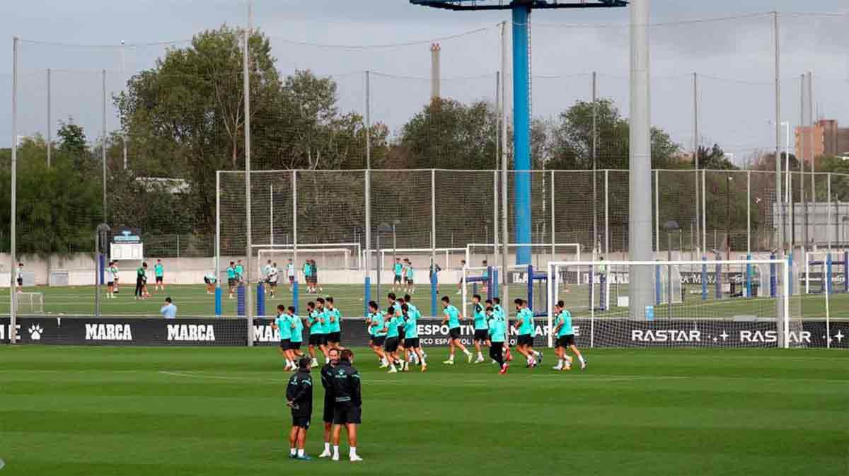 Así ha sido el entrenamiento del Espanyol