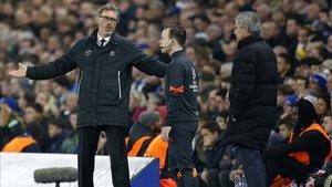 Blanc y Mourinho, enfrentandose en Champions League con PSG y Chelsea, respectivamente