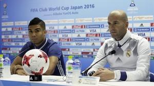 Casemiro y Zidane hablan sobre el Real Madrid - Bayern Munich de mañana