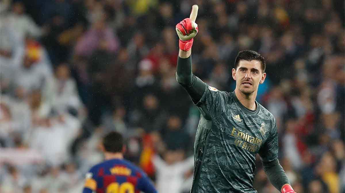 Courtois no cree que el Barça deba coronarse campeón si se terminara la Liga