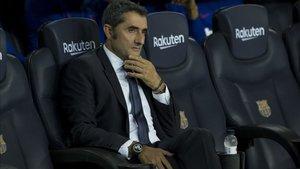 Ernesto Valverde respiró tranquilo tras la reacción del equipo azulgrana
