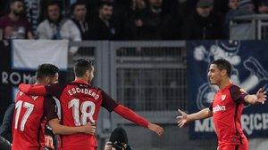El gol de Ben Yedder otorga ventaja a los sevillistas