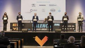Imagen de la presentación del Maratón celebrada esta tarde en Valencia