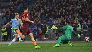 Immobile sentenció a la Roma al marcar el segundo gol de la Roma