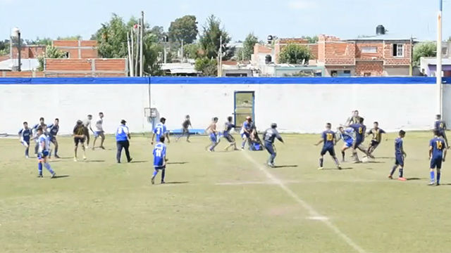 ¡Increíble! Batalla campal en un partido de Liga Amateur en Buenos Aires