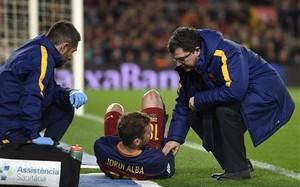 Jordi Alba podría estar varias semanas de baja si se confirma la rotura fibrilar en los isquios