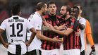 Juventus y Milan son los dos equipos que tienen que enfrentarse en una final con polémica