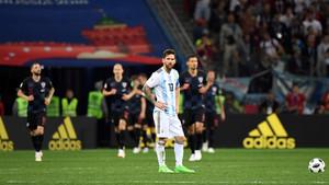 Las imágenes de Messi contra Croacia