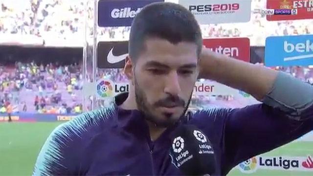 Luis Suárez: No podemos depender de Messi
