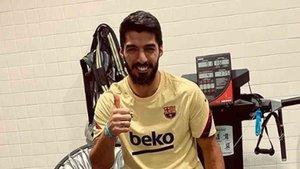 Luis Suárez va recortando pasos en su recuperación