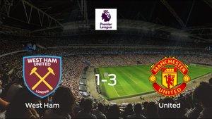 El Manchester United se lleva los tres puntos frente al West Ham (1-3)