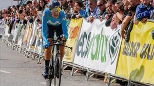 Marc Soler, en la Vuelta a Andalucía donde finalizó tercero