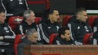 Mourinho y Shaw, en el banquillo del Manchester United