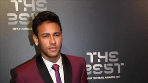 Neymar, en la alfombra roja de la gala The Best