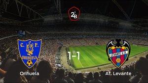El Orihuela CF y el At. Levante solo suman un punto (1-1)