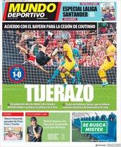 Portada de Mundo Deportivo, del sábado, 17 de agosto