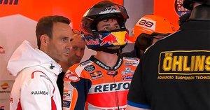 Puig y Lorenzo, en el box de Honda