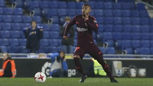 Rafinha vistió la camiseta del Barça por última vez ante el Espanyol la semana pasada