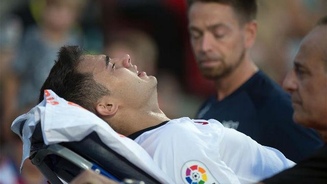 Reguilón se marchó entre lágrimas tras un brutal golpe en la cabeza