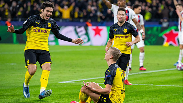 Reyna asistió a Haaland para dar la victoria al Borussia ante el PSG
