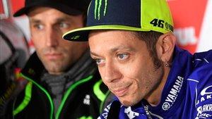 Rossi analizó el fin de semana en Valencia en la sala de prensa