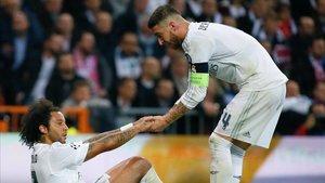 Sergio Ramos y Marcelo están sufriendo en defensa en el Madrid