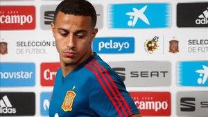 Thiago, en una concentración de la selección española